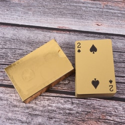 1x waterproof gold plated porker PVC plastic playing cards for t gold