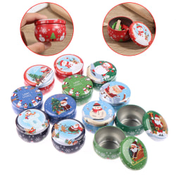 2.2OZ Christmas mini tin box Sealed jar packing boxes jewelry ca ONE SIZE