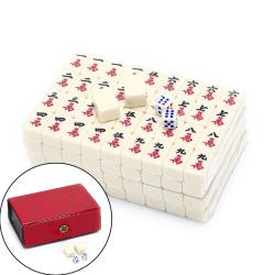 2.2x1.5x1.1cm Mah-Jong Set Multi-color Portable Vintage Mini Mah red