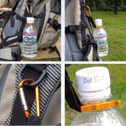 2 PCS Carabiner Water Bottle Buckle Hook Holder Clip Camping Hik