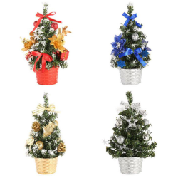 20CM Mini Christmas Trees Decorations A Small Pine Tree Placed I Gold