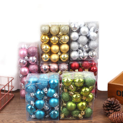 24pcs Christmas Ball Ornaments For Christmas Tree Decor For Xmas Red