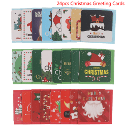 24pcs Merry Christmas Greeting Cards Party Invitations New Year  one size