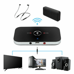 2in1 Bluetooth Transmitter&Receiver Wireless A2DP Home TV Stereo One Size