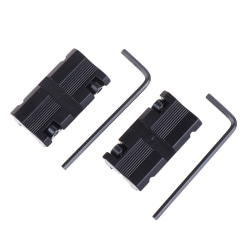 2pcs 11mm Dovetail to 20mm Weaver Picatinny Rail Adapter Mount S One Size