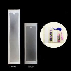 2pcs/set Silicone Rectangle Bookmark Mould Epoxy Resin Jewelry M