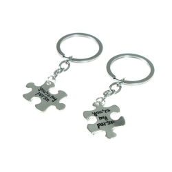 2pcs you are my person keychain letter puzzle key ring creative  onesize