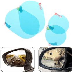 2xUniversal Car Rearview Mirror Waterproof Membrane Film Anti Mi N1