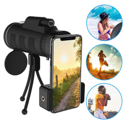 40X60 Zoom Phone Monocular Telescope Scope Camera Camping Hiking P2