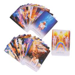 44PCS/Set Tarot Card Lightworker Oracle Fate Divination Entertai one size