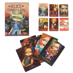 45pcs Alice The Wonderland Oracle Cards Deck Mysterious Fate Tar one size