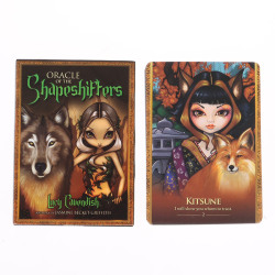 45PCS/Set Oracle Of The Shapeshifters Tarot Cards Funny Divinati one size