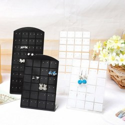 48 Hole Earring Holder Ear Stud Jewelry Stand Display Stand Show black