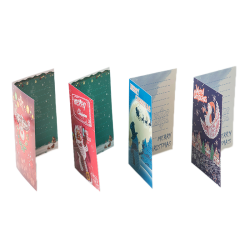4pcs/set 5D DIY Diamond Painting Greeting Card Special Shaped Bi A
