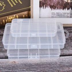 5 rutnät Transparent fiskebox Lure Lead Hooks Connector Case C Transparent S