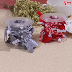 5m Christmas Ribbons Weaving Festival Party Decoration DIY Card  Red