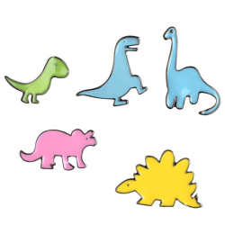 5PCS Cartoon Dinosaur Enamel Shirt Collar Pins Badge Corsage Bro Multicolor