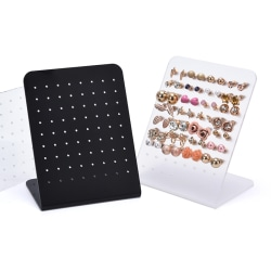72 Holes Acrylic Stud Dangle Earrings Display Rack Stand Jewelry Clear
