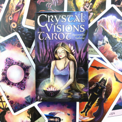 78 Cards Deck Playing Card Board Crystal Visions Tarot Cards by  one size