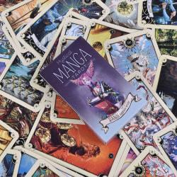 78pcs Tarot Cards Mystical Manga Tarot Cards Party Tarot Deck Su White