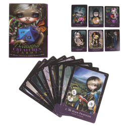 80pcs Beautiful Creatures Tarot Cards Deck Games Oracle Party Pl one size