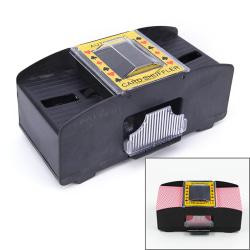 Automatic Poker Card Shuffler Battery Operated Game Playing Shuf black