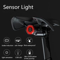 Bicycle Taillights Intelligent Sensor Brake Lights USB Xlite100 sit advances