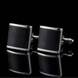 Black Stainless Steel Mens Wedding Party Gift Shirt Cuff Links C