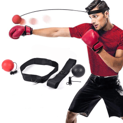 Boxing Reflex Speed Punch Ball Training Hand Eye Coordination Mu Red