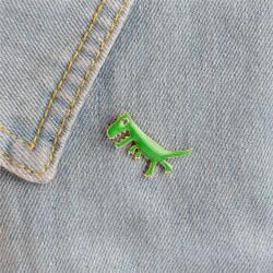 Cartoon Dinosaurie Djur Flicka Emalj Krage Pins Badge Corsage