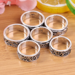 Celtic werewolf pattern men''s ring personality punk style retr 1(style 1)