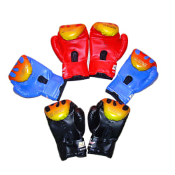 Children Kids FIRE Boxing Gloves Sparring Punching Fight Trainin Black