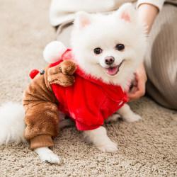 Christmas Chic Claus Dog Cat Pet Fancy Dress Jacket Coat Costume 1