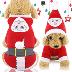 Christmas Clothes Dogs Cats Santa Clothes Autumn Winter Hooded S XS