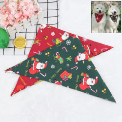 Christmas Cotton Bandana-Style Dog Pet Cat Puppy Scarf Neckerchi Red