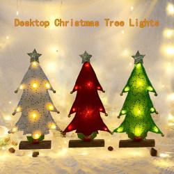 Christmas Elegant Home Craft Desktop Tree Light Mini LED Tree F Gold