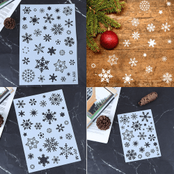 Christmas Holiday Snowflake DIY Stencils Painting Scrapbook Deco L1