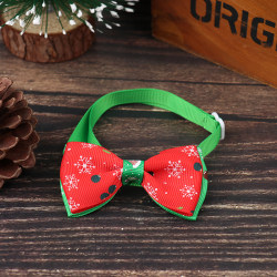 Christmas Pet Cat Dog Collar Bow Tie Adjustable Neck  Accessorie F
