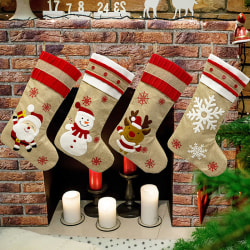 Christmas Sock Candy Gift Stocking Bag Container Tree Hanging Pe Santa Claus