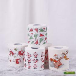 Christmas Table Napkin Home Santa Claus Bath Toilet Roll Paper X Christmas gift box