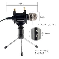 Condensator Microfoon Mobiele Telefoon Microfoon 3.5 Mm Jack Mic One Size