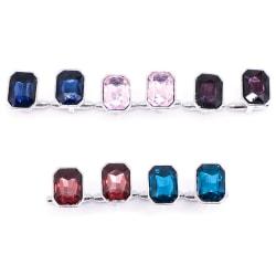 Creative colorful Crystal Cufflinks New Fashion Luxury Elegant S darkblue