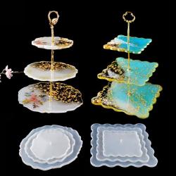 DIY three-layer fruit tray tea tray silicone mold epoxy resin t 5