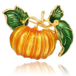 Emalj Pumpkin Brosch Pin Banquet Badge Suits Shirt Collar Pin