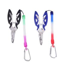 Fisktång Fish Line Cutter Sax Mini Fish Hook Remover Black