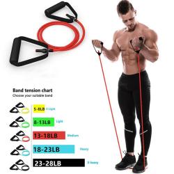 Träningssnörar för träning Drag rep Repsträckningsmotståndsband Elast Red