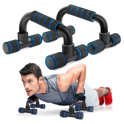 Fitness Push Up Bar Push-Ups Stands Bars Tool For Fitness Chest  Black Red
