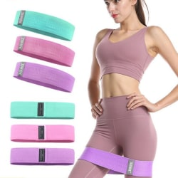 Fitness Resistance Bands Non-slip Hip Circle Legs Thigh Hip Work Pink