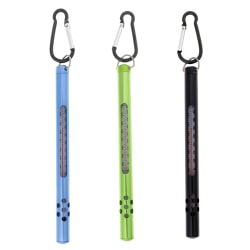 Fly Fishing Thermometer Stainless Steel Case Water Thermometer F Black