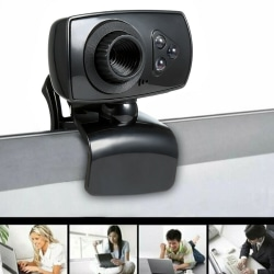 Full HD 50MP Webcam USB 3 LED Video Camera With Microphone For P Black